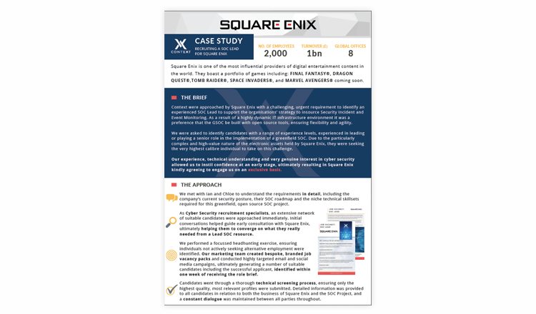 Case Study: Square Enix